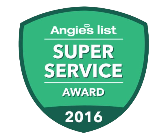 We're proud to be a recipient of the 2016 Angie's List Super Service award.