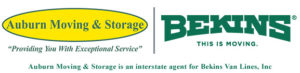 auburn moving and storage logo, roseville movers and bekins interstate agent