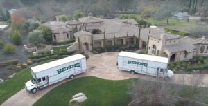 aerial shot of moving company in granite bay