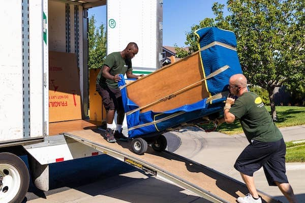 roseville movers loading furniture into moving company truck